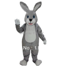 mascot wholesale pop fancy grey Easter bunny rabbit mascot costume adult outfit cartoon character mascotte(China)