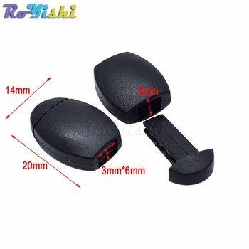 Mochila Con Hebillas | 1000 Unids/pack Plástico Cremallera Clip Hebilla Cremallera Tira Cable Cuerda Extremos Bloqueo Negro Para Paracord/ropa/mochila
