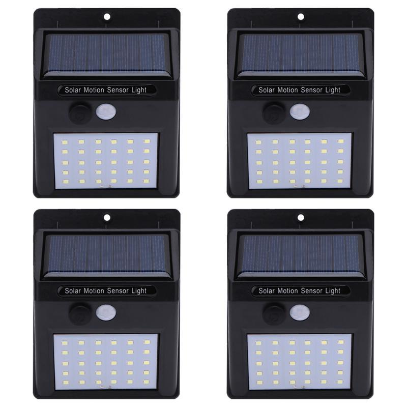 1-4 pcs 20/30 LED Solar Light Solar PIR Motion Sensor Lamp Waterproof Outdoor Garden Pathway Yard Emergency Security Wall Light