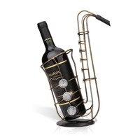 DUOLVQI Metal Sax Wine Rack Crafts Artwork Wine Holder Creative Bottle Holder Wine Bottle Stand Practical Decoration