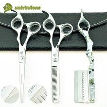 6インチマイクロ鋸歯状理髪はさみ美容師プロフェッショナルヘアはさみ間伐はさみサロン理髪店 Univinlions