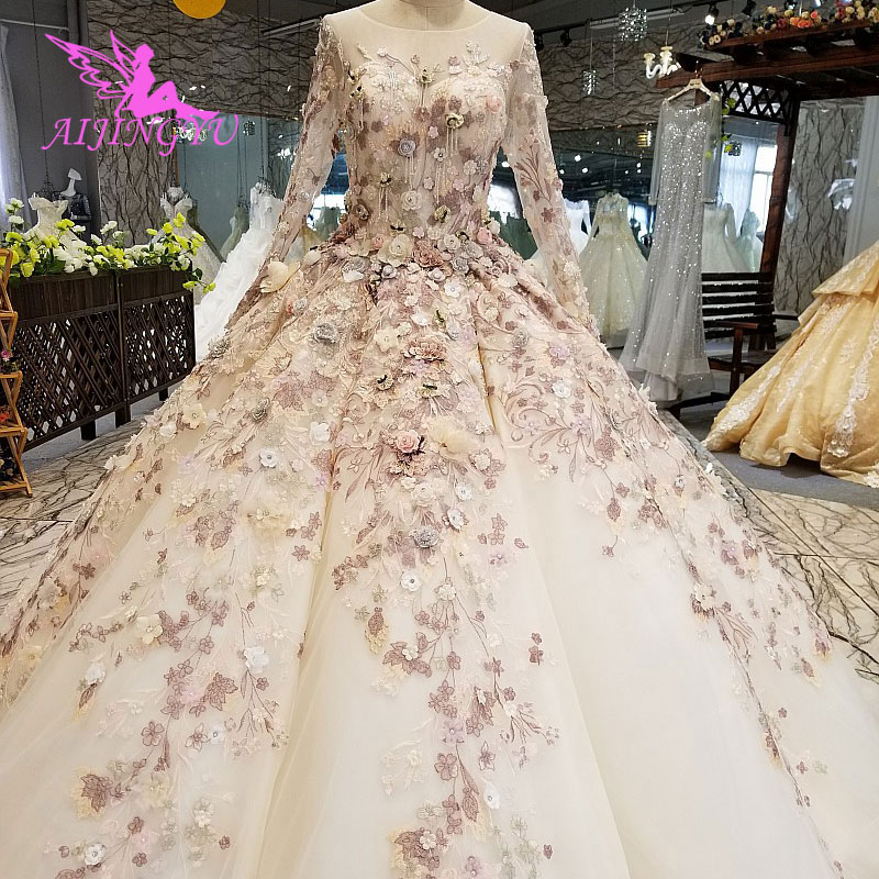 Glitter Wedding Gowns: AIJINGYU Cathedral Wedding Dresses Imported Gowns Glitter