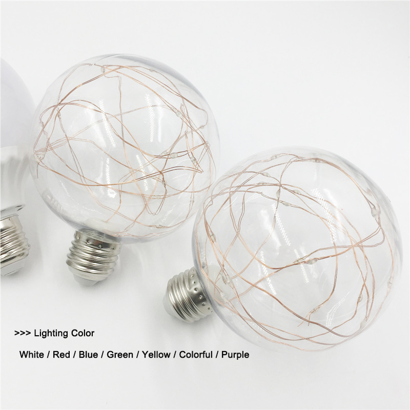 E27 RGB Led Bulb Lamp 220V 110V Lampada Led Light Cooper Wire Bulb LED Lights Energy Saving Home Lamp image