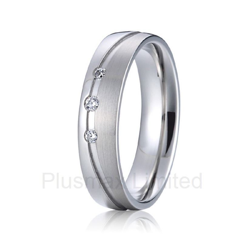 2016 OEM/ODM wife and husband pure titanium jewelry partner promise wedding rings