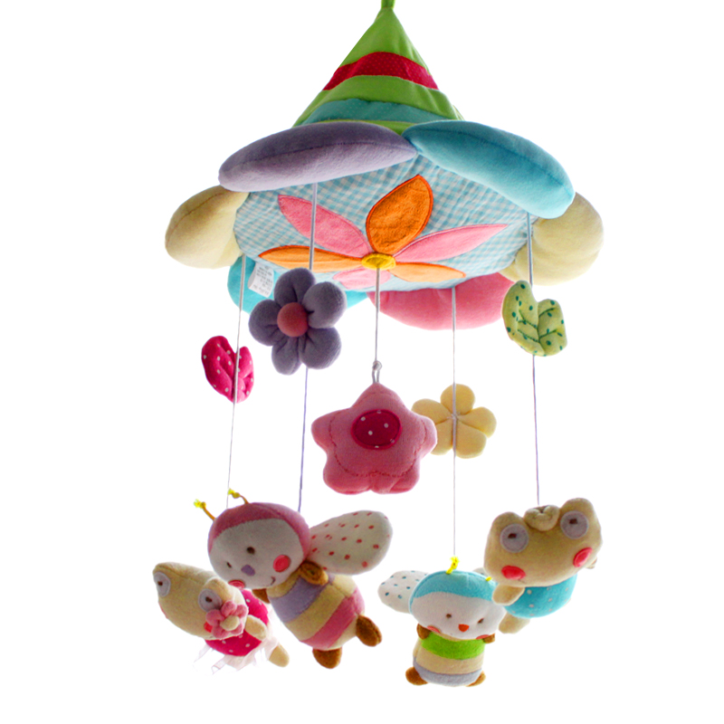 SHILOH Improved Deluxe Baby Plush Crib Mobile Crib toy Newborn Infant Kid Boy Girl Doll with 60 songs Musical Box and Holder Arm