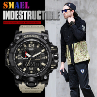 2018 SMAEL top luxury brand G style men's military sports watch LED digital watch waterproof 50M men's watch Relogio Masculino