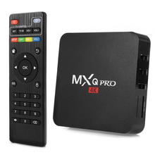 MXQ Pro 4K S905 Quad-Core Android 5.1 HD TV Box with 1GB RAM + 8GB ROM/WiFi/4k x 2k Black