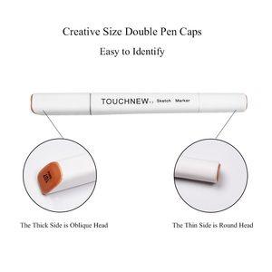 Image 3 - Touchnew T7 Dual Tips Sketch Markers Creative Design 40/60/80/168 Kleur Marker Pen Alcohol Gebaseerd Tekening Art levert Met Geschenken