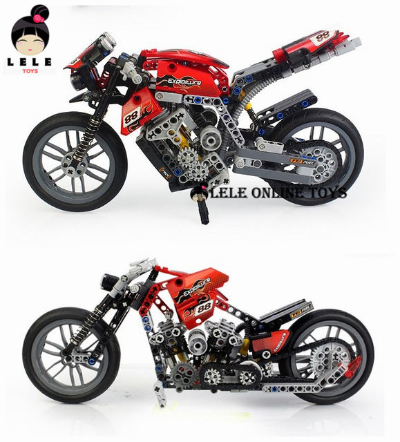 2015new Hot Motorcycle Building Blocks Compatible with 431 Pcs Decool Scale Models  Learning Education Toys with