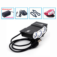 Bicycle Light 6000 Lumens 4 Mode XM L T6 LED Cycling Front Light Bike Lights Lamp