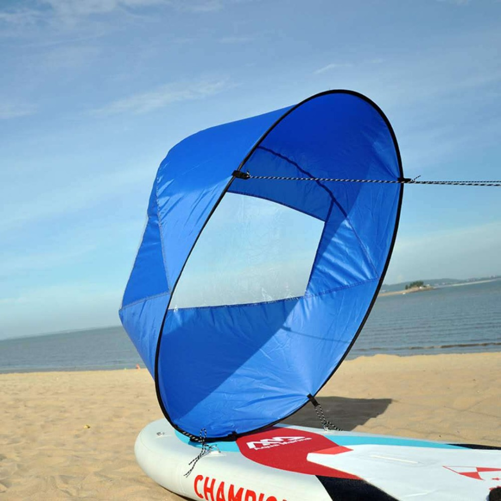 Foldable Kayak Wind Sailing Paddle 108cm Board Sailing Canoe Stroke Rowing Boats Clear Window Boat Marine Accessories
