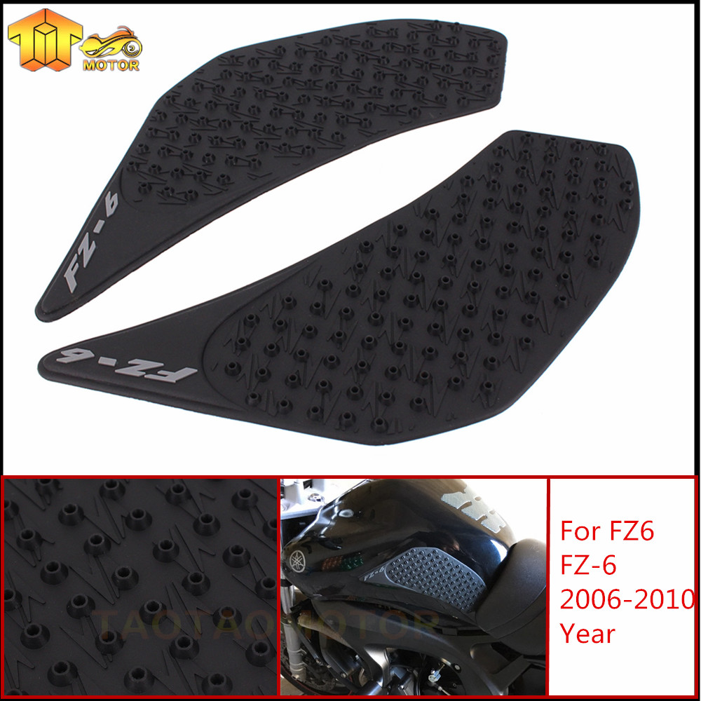 Motorcycle Anti Slip Tank Pad 3M Side Gas Knee Grip Traction Pads Protector Stickers For Yamaha FZ6 FZ-6 FZ 6 Fz6 2006 2007-2010