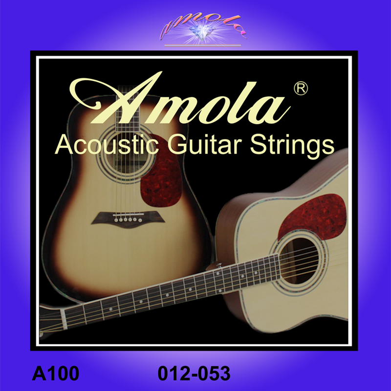 Amola 012-053 Acoustic Guitar Strings For Acoustic Guitar Accessories A100 Guitar Parts Wholesale