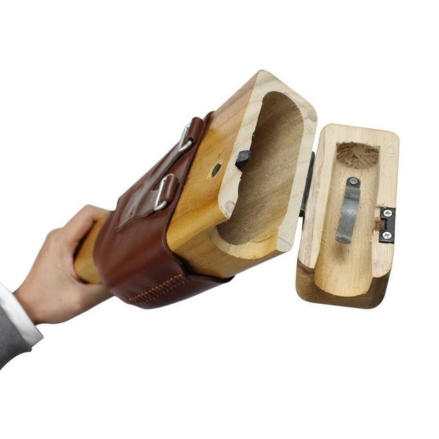 Manche à balai pour Mauser C96 étui en bois avec bandoulière allemand en stock pas de pistolet