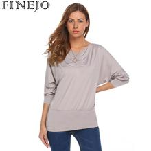 2019 Women Batwing Sleeve T Shirt Tops Casual Long Sleeve T-shirt Spring Autumn Pullover Solid Femininas Tee tshirts Plus Size