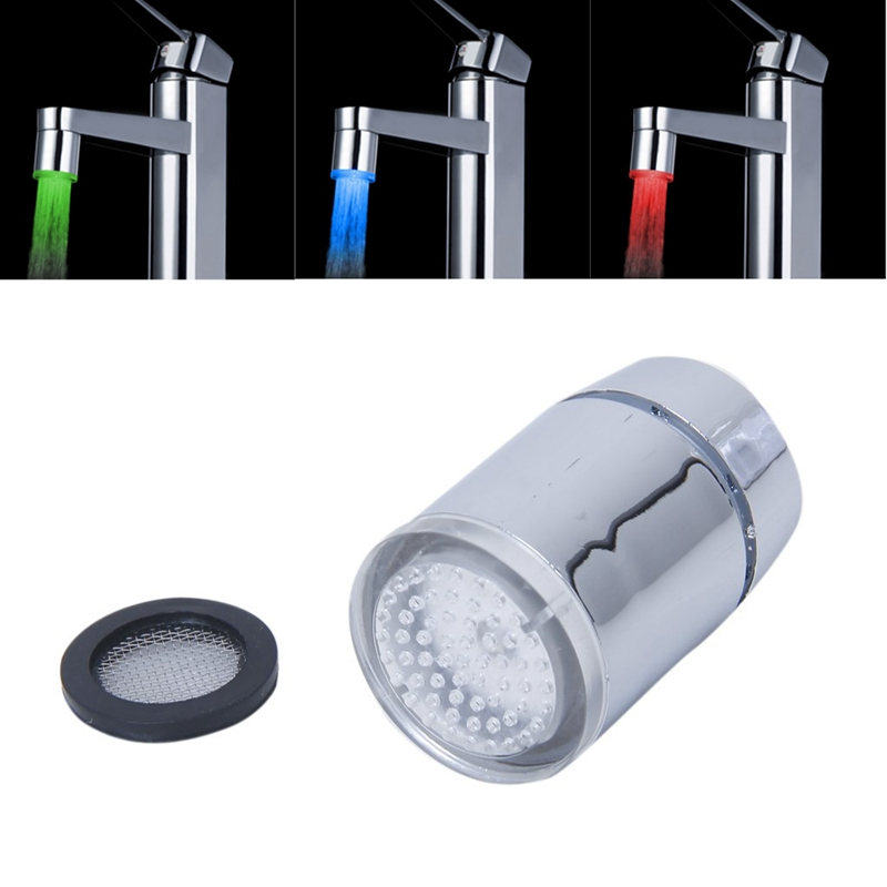 Tri-color LED Temperature Sensor Spray Faucet Water Tap