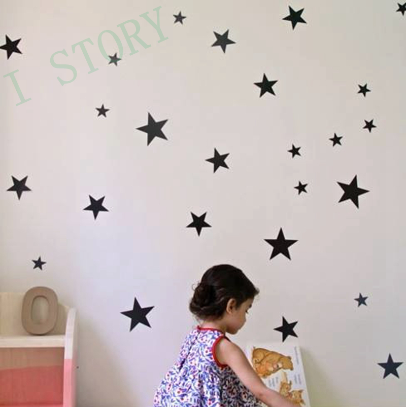 Aliexpress.com : Buy Gold Stars Wall Decal Vinyl Stickers Golden Star Kids  Rooms Wall Art Nursery Decor Stickers From Reliable Decorative Stickers  Suppliers ... Part 35