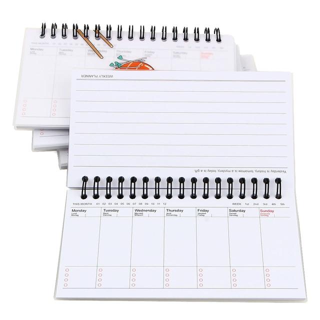 kawaii week plan memo book 80 sheet weekly daily planner sushi