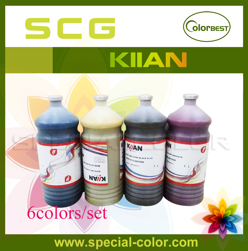 6colors/lot Italy Kiian Hi-Pro Sublimation Ink Bulk Ink 1000ml for Roland/Mimaki/Mutoh Transfer Ink