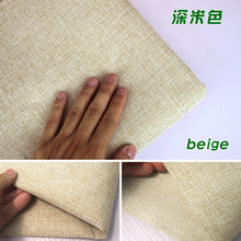 "Beige Coated Linen Fabric Sofa Cushion Fabirc DIY Craft Sewing Cloth Outdoor Linen Blend Fabric Upholstery 58"" wide -Per yard(China)"