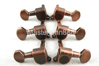 1 Set Of Retro Copper Acoustic Guitar Tuning Pegs Tuners Machine Head 3L 3R Free Shipping