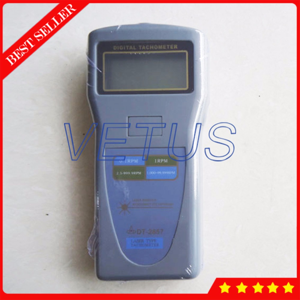 High resolution Digital Laser Tachometer DT2857 wth 2.5~99,999r/min Tach RPM Meter Gauge