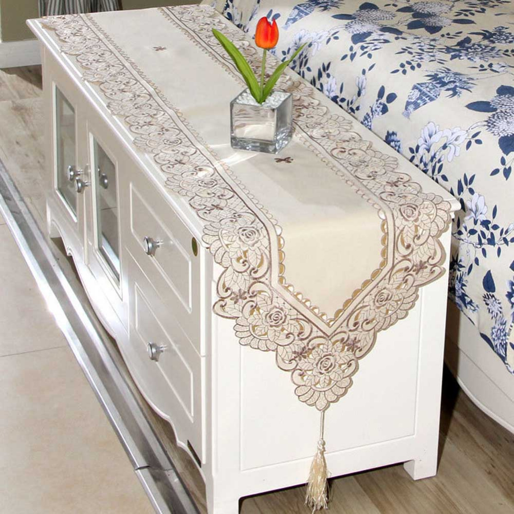New european garden embroidered tablecloth dining table cover for new european garden embroidered tablecloth dining table cover for wedding coffee table elegant table runner 40150cm in tablecloths from home garden on geotapseo Choice Image