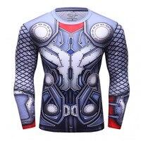 Männer Compression Langarm-shirt 3D Gedruckt T-shirts MMA Fitness Männlichen Schnelle Trockene Bodybuilding Crossfit Tops Neue Sportbekleidung
