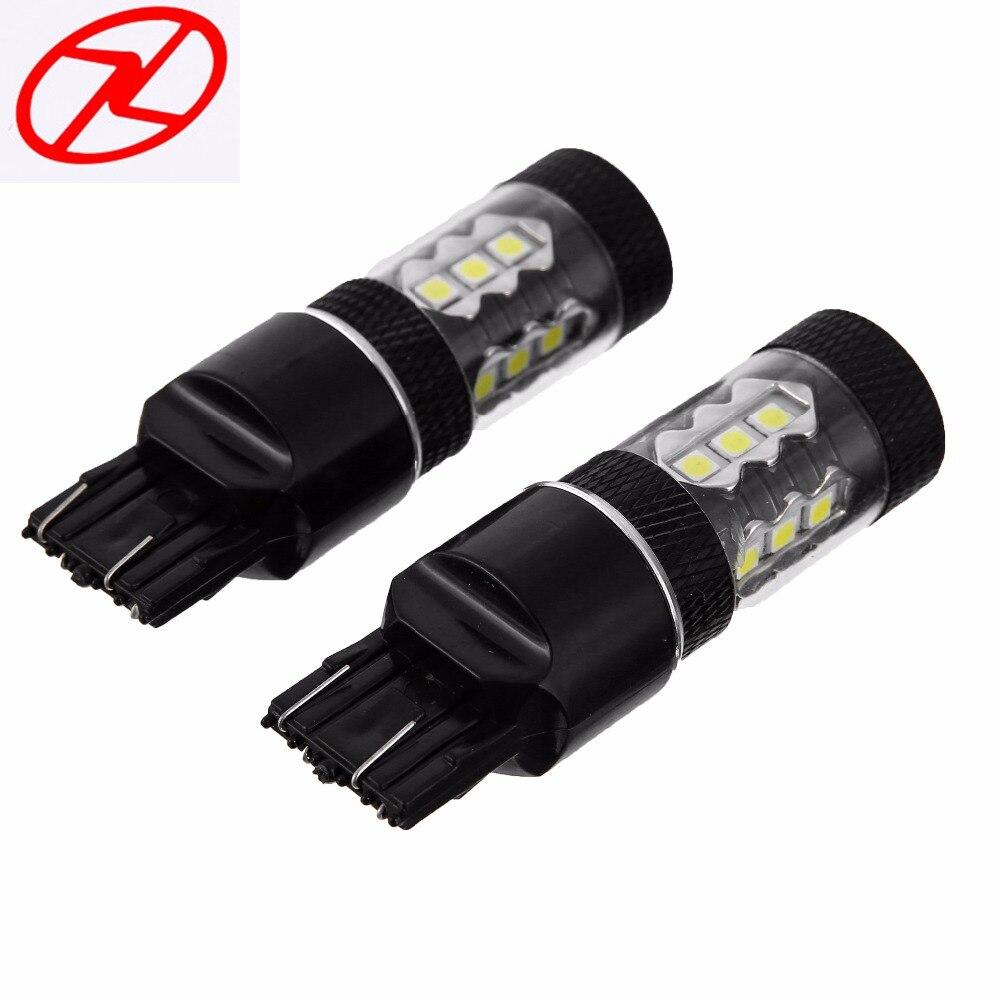 2x 6000K White 7443 High Power 80W LED Bulbs Fog DRL Driving Light Head Lamp Backup Led Reverse Lamp