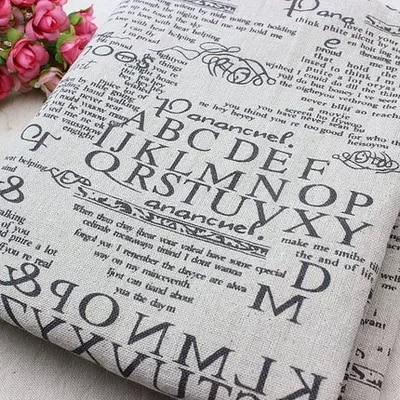 150 100 cm coton lin tissu pour patchwork imprim journaux textile tissu pour coudre. Black Bedroom Furniture Sets. Home Design Ideas