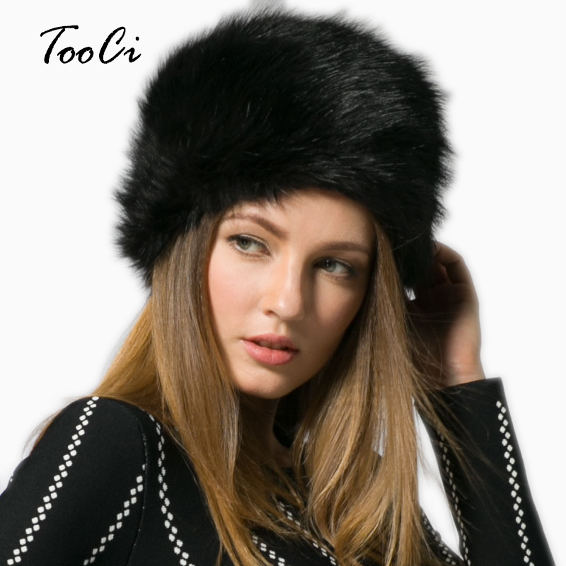 Winter Fashion Women's Hats Lady Fluff Cap Soft Warm Faux Fur Beanies Ear Protect Cute Casual Hat Headgear Headdress