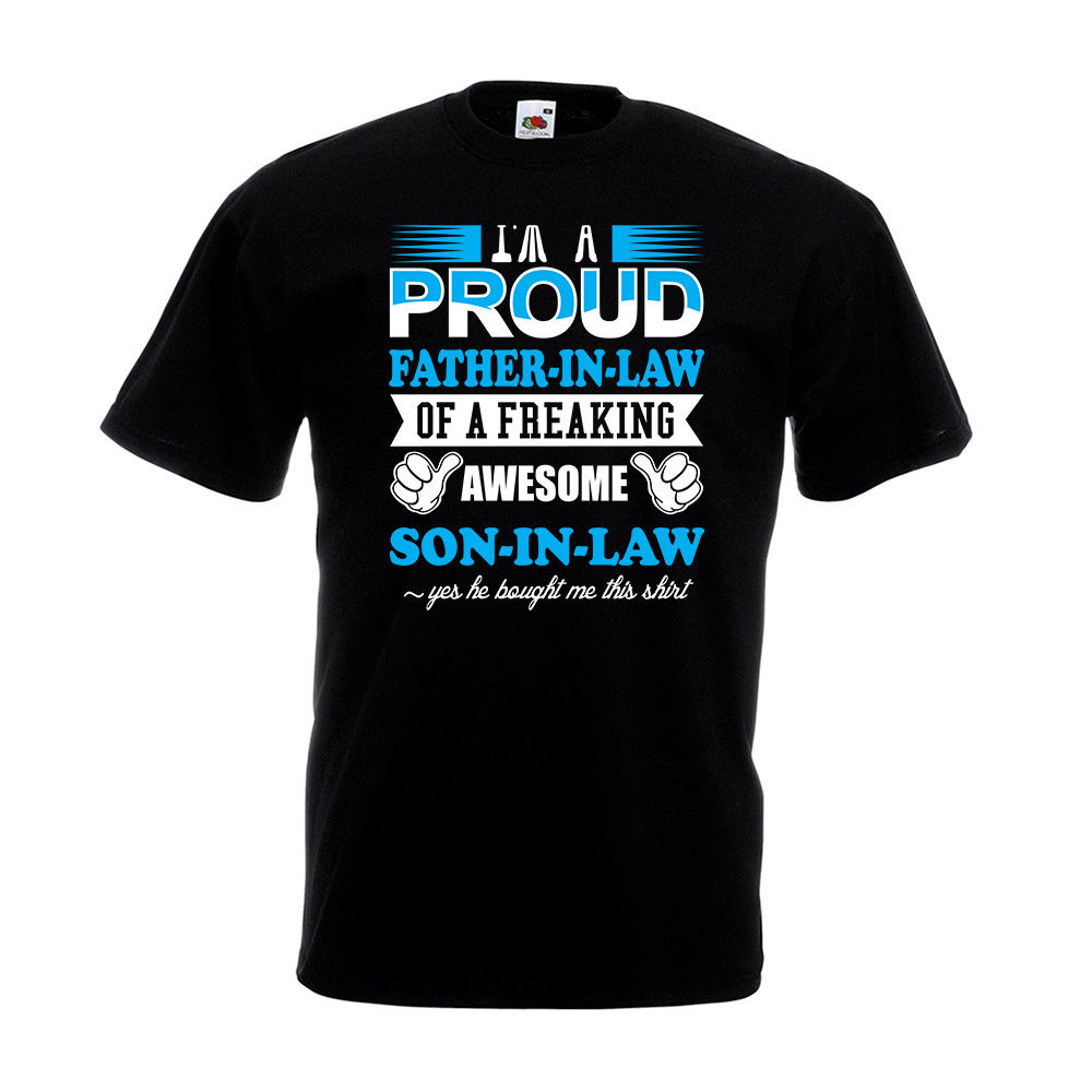 Proud Father In Law Son T Shirt Fathers Day Birthday ...