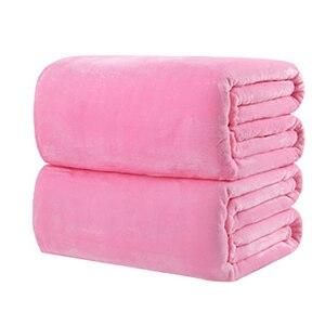 Image 3 - CAMMITEVER 10 Colros Super chaud doux Textile à la maison couverture couleur unie flanelle couvertures jeter des couvre lits draps