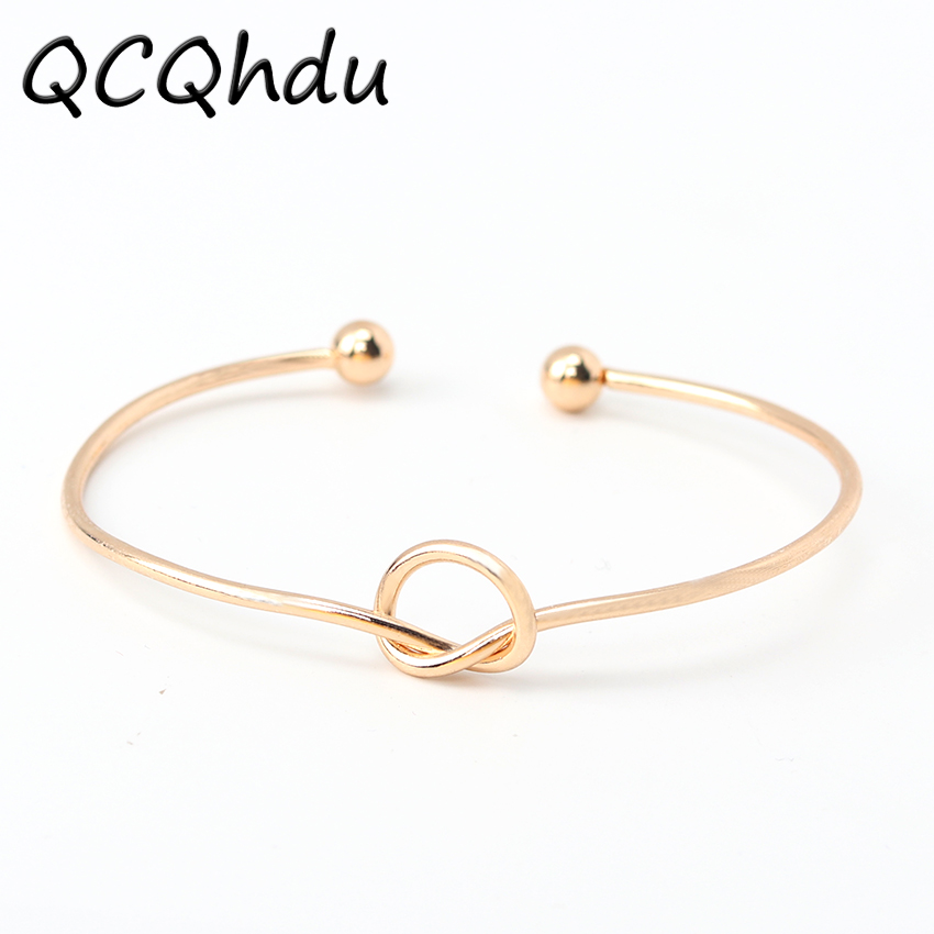 1PC Knot Cuff Bracelets Bangles Fashion Open Bangle Women Bangles Feminin Love Valentine Day Gift