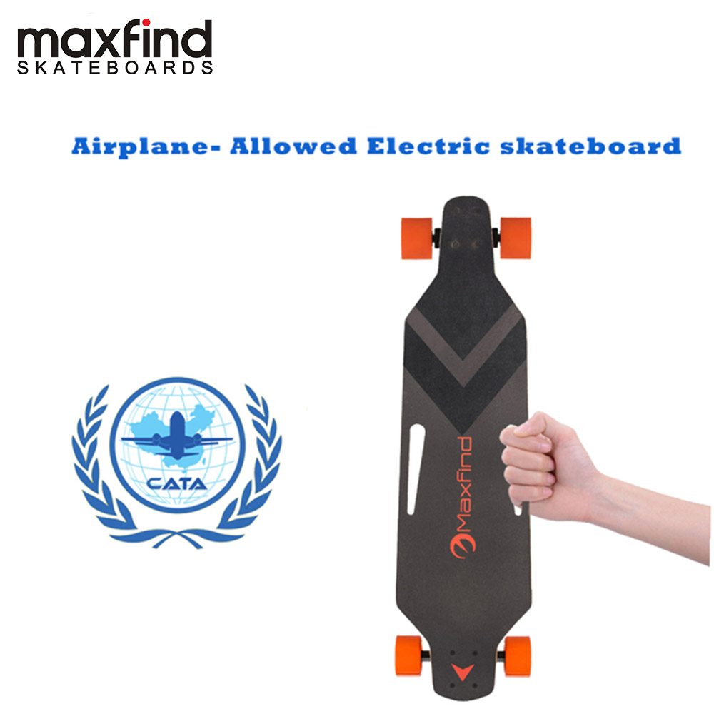 Maxfind skateboard électrique, Monde de Plus Portable 600 W Chanteur Moteurs Étanche Électrique Longboard