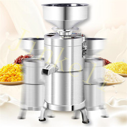 electric stainless steel commercial soya-bean milk machine refiner pulp separation pulp beaten bean curd grinding tofu machine