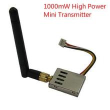 Mini Daya Tinggi 1.2G 1000 mW FPV Transmitter 1.2 GHz Drone Video Sender dan Receiver dengan 12 Saluran
