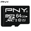 PNY 100% Подлинная Карта Micro Sd 16 ГБ 32 ГБ 64 ГБ До 90 МБ/С. Чтения Micro SDHC SDXC Class 10 U1 8 ГБ C10 TF Флэш-Памяти Mini SD Card