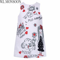 Milan Creations Princess Dresses Girls Clothes 2016 Brand Baby Girls Dress Summer Floral Pattern Kids Dresses