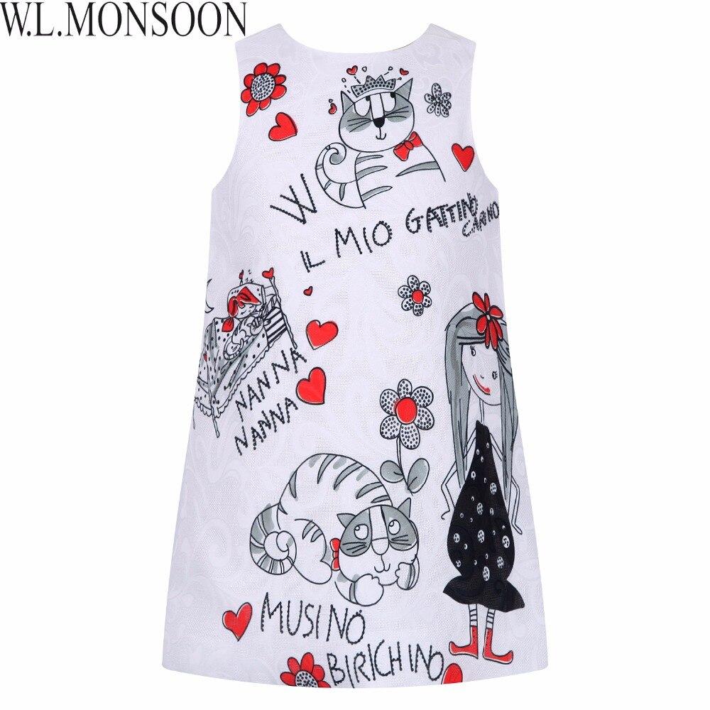 Vestido de princesa para Niñas Ropa Carácter Impreso Túnica Fillette Disfraces p