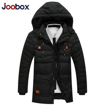 JOOBOX Brand Thick Parka Men Long Winter Jacket Men 2017 Fashion parka hombre Warm Cotton-Padded Jacket Coat Hooded Outerwear