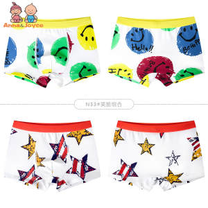 2PcsLot  boys boxer Children's Underwear Cotton Men's Boxer Shorts Shorts  suit 2-14 years