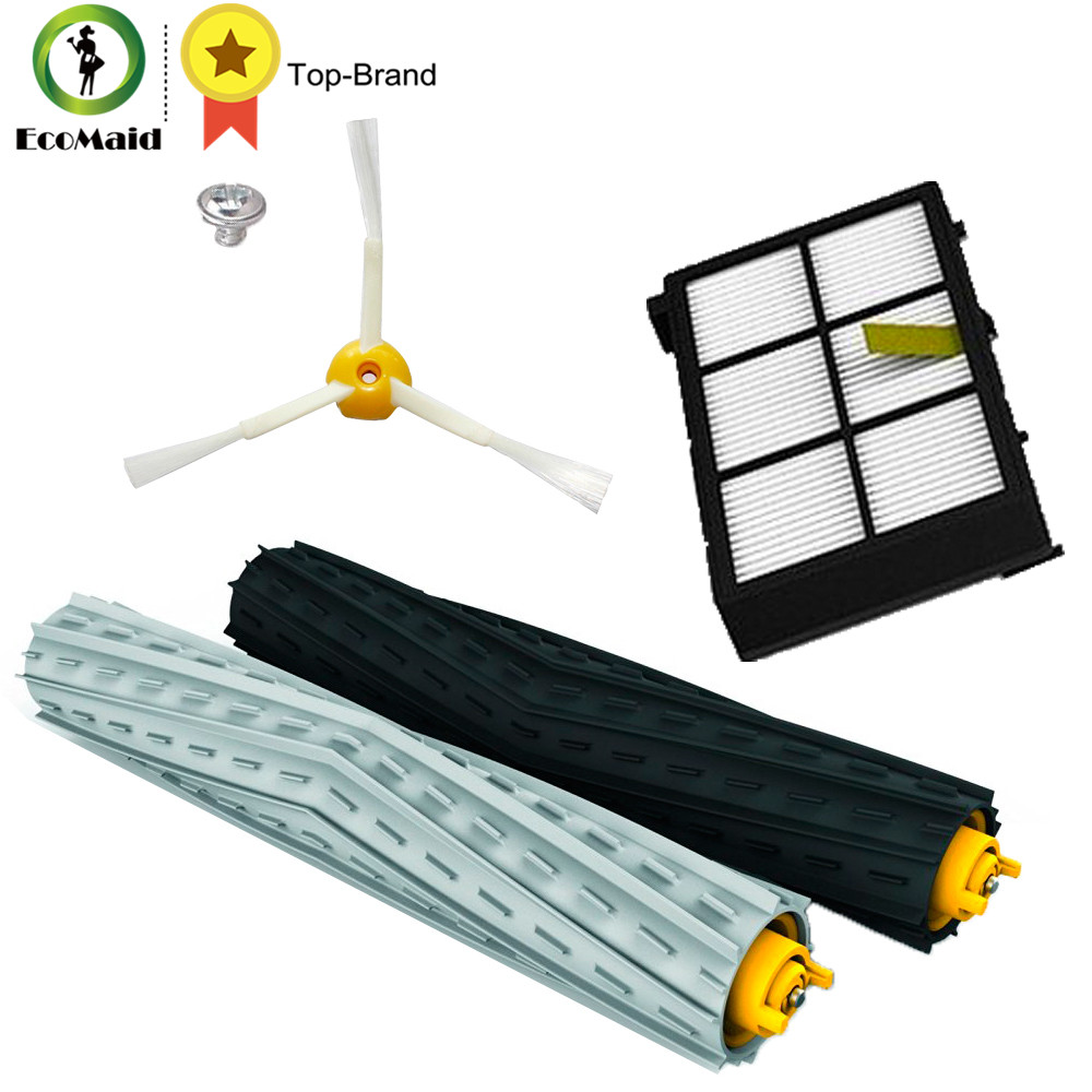 Replacement HEPA Filter Side Brush kit For iRobot Roomba 800 900 series 870 880 980 Tangle-Free Debris Extractor Set Clean Tool
