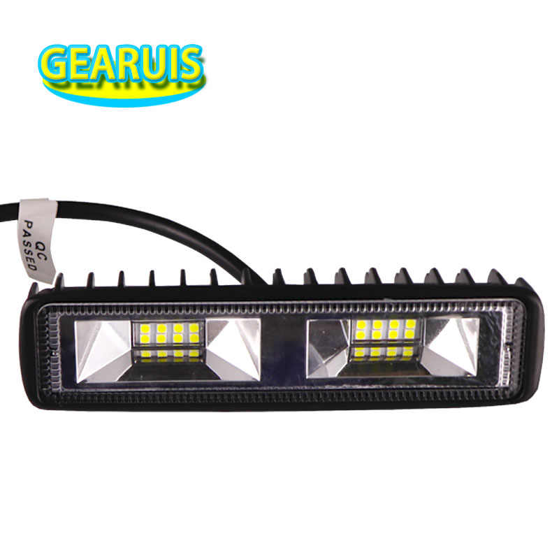 1pcs 18W LED Work Light Bar 3030 Chips Flood Spot Beam 1.4A DRL Woking light for JEEP SUV ATV Motorcycle Tractor Trailer Lamp