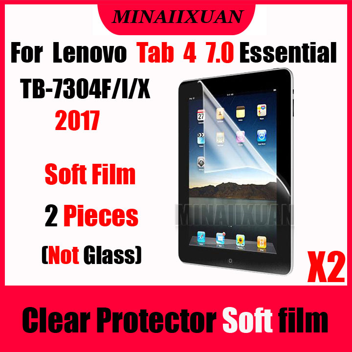 2Pcs Clear Screen Protective Soft Film (NOT Glass) For Lenovo Tab 4 7 Essential TB-7304X 7304X TB-7304F 7304F TB-7304I Tablet slim magnetic cover case for lenovo tab 7 essential tb 7304x tb 7304i tb 7304f 7cover for lenovo tab 4 7 essential case