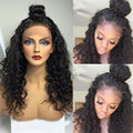 8A Brazilian Deep Wave Full Lace Human Hair Wigs For Black Women Lace Wig With Pre-plucked Baby Hair Lace Front Human Hair Wigs