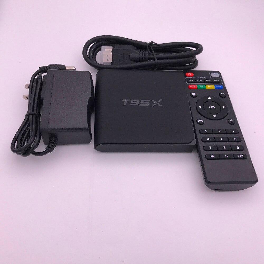 Popular Android TV Box T95X Media Player 1GB/2GB DDR3 RAM 8GB/16GB ROM Amlogic S905X Quad Core Set Top Box WiFi Smart Box 1Pcs mini m8s android 4k tv box amlogic s905 android 5 1 quad core wifi bt 4 0 ram 2gb rom 8gb set top box media player