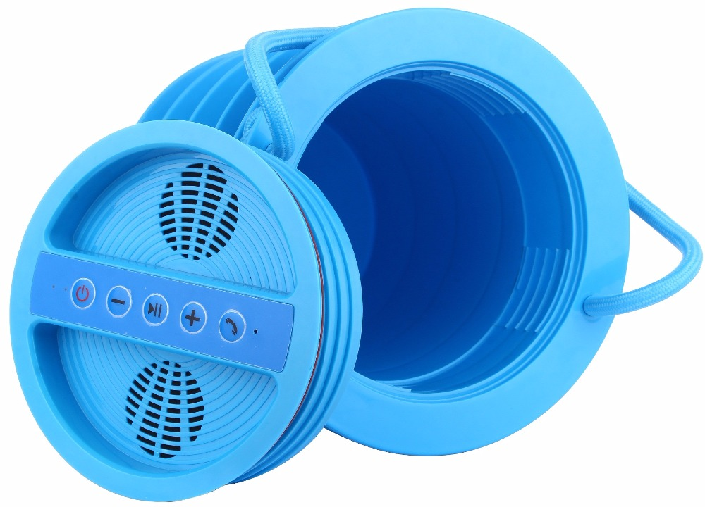 Portable Bluetooth Haut-Parleur Subwoofer, PLAGE Stockage EN TOUTE SÉCURITÉ, FM Radio, Power Station, Seau à glace Sur La Plage, plage Coffre-Fort Anti-Vol