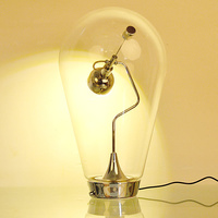 wongshi Adjustable Blow Table Lamp Pio and Tito Toso Magnet Clear Glass MR16 Table Book Light