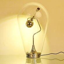 Настольная лампа wongshi с регулируемым выдувом магнитный прозрачный